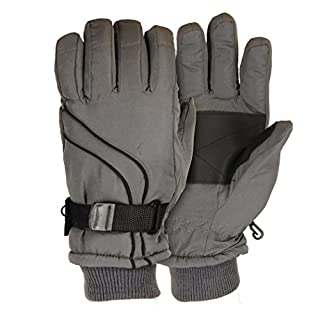 Men's Micro-Nylon Waterproof / Thinsulate Lined Cuffed Ski Glove, Grey, Medium (B003ZX482A) | Amazon price tracker / tracking, Amazon price history charts, Amazon price watches, Amazon price drop alerts