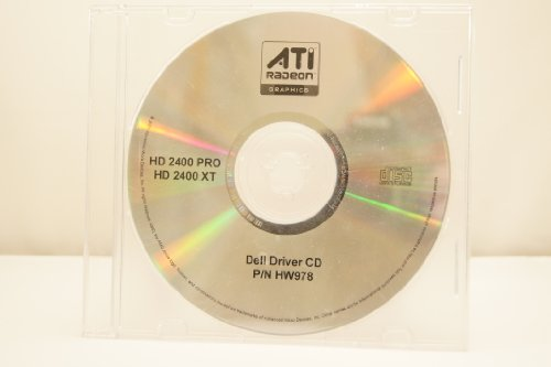 ATI Radeon Dell Driver CD Part Number: P/N HW978 HD 2400 Pro HD 2400 XT Year: 2007 PC Computer Software Program Install (Ati Drivers)