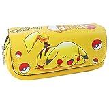 Lcrystal Pokemon Pikachu Stationary Case Bag, Eraser, Pen, Pencil, Marker, Ruler Organizer Holder