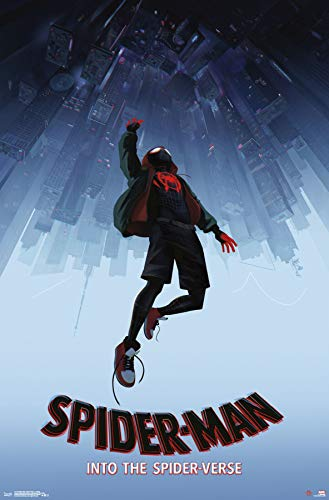 Trends International Man: Spider-Verse-Falling Wall Poster, 22.375