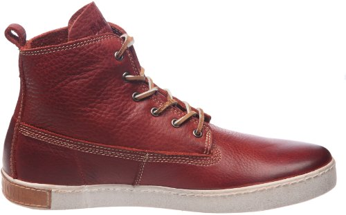 Blackstone DESERT HIGH WILLIAM DM51 - Zapatillas de cuero para hombre Rojo