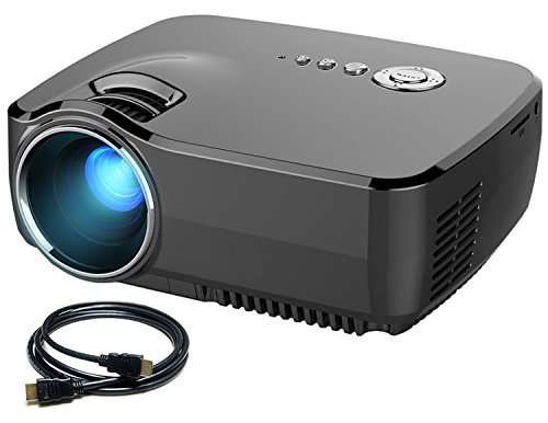 Micro Projector Meyoung HD Movie Portable Projectors 1200 Lumens 1080P 150 Built-in TV Tuner for Home TheaterPS2PS3XBOX GamesIphoneIpadMac via HDMIUSBAVSDVGA Port (GP70 Black)