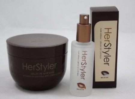 Amazon.com : HerStyler Argan Oil Hair Mask   Argan Oil Hair Serum ...