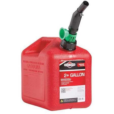 Gas Can, 2 Gal, Red, Self Vent, Poly