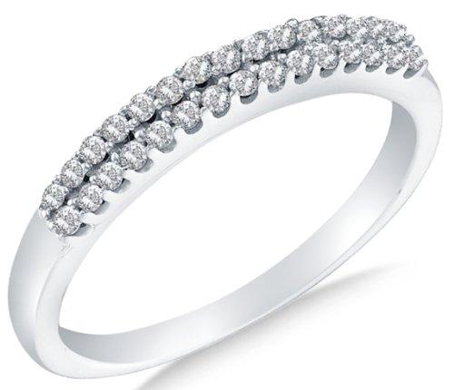 14k White OR Yellow Gold Ladies Womens Diamond Wedding Ring Band (1/5 cttw.)