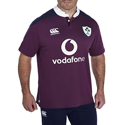 Canterbury Ireland Rugby SS Alternate Classic Jersey, Large Alternate Ss Rugby Jersey