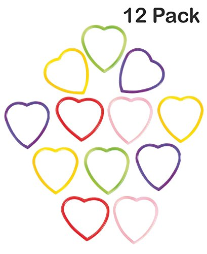 [Heart Shaped Jelly Bracelets - Pack Of 12 - 6 Inches Assorted Colors - For Kids, Teens And Adults - Great Party Favors, Bag Stuffers, Fun, Gift, Prize, Valentine's Day, Fashion Accessory - By Kidsco] (Valentine Day Party Ideas For Adults)