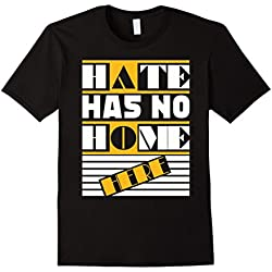 Mens Hate Has No Home Here Anti-Racism T-shirt Large Black