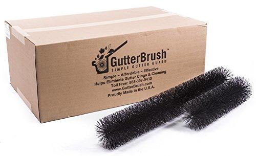 GutterBrush Leaf Gutter Guard for Oversized 6 inch Rain Gutters – 60 Foot Pack