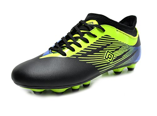 DREAM PAIRS 160861-K Boy's Athletic Lace up Outdoor Light Weight Running Soccer Sport Cleats Shoes(Toddler/Little Kid/Big Kid) Black N.G Royal Size 1 -