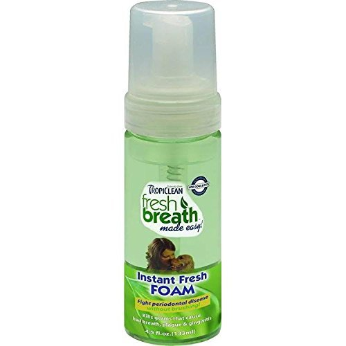 TropiClean Fresh Breath Instant Foam All Natural Dental Care Dogs Mint (Fresh Breath Drops)