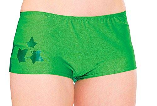 Rubie's Women's DC Comics Poison Ivy Boy Shorts, Green, One Size ()