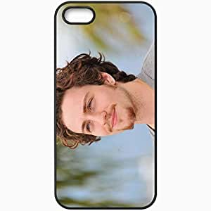 Personalized iPhone 5 5S Cell phone Case/Cover Skin Aaron Johnson Mustache Smile Boy Black