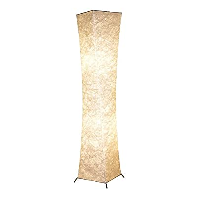 "Floor Lamp, BI-LIGHT Modern Twisted Design Fabric Soft Lighting Floor Lamps for Living Room and Bedroom - 52"" Tall Lamp, New Design"