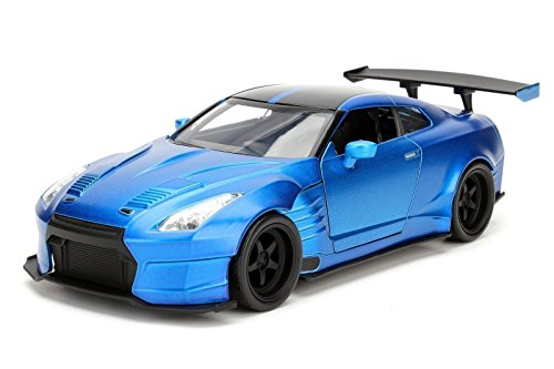 Jada Toys New 1:24 Display Fast & Furious - Blue 2009 Nissan Skyline GT-R (R35) Diecast Model Car (Without Retail Box)