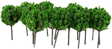 【ノーブランド品】樹木 モデルツリー  鉄道模型 ジオラマ 箱庭 鉄道風景 1/300  50本