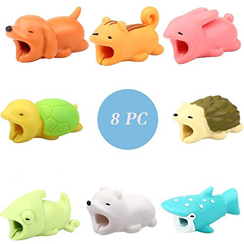 Price comparison product image EDTO Animal Phone Accessory Data Cable Protector Bite Mobile Phone Protection Cute (d,  8pcs)