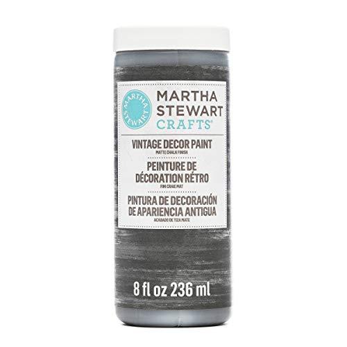 Martha Stewart Crafts 33527 Martha Stewart Vintage Decor Matte Chalk Charcoal, 8 oz Paint