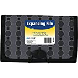 C-Line 13-Pocket Expanding File, Coupon Size, Includes Tabs, 1 File, Fashion Circle Series, Black/Gray (56412)