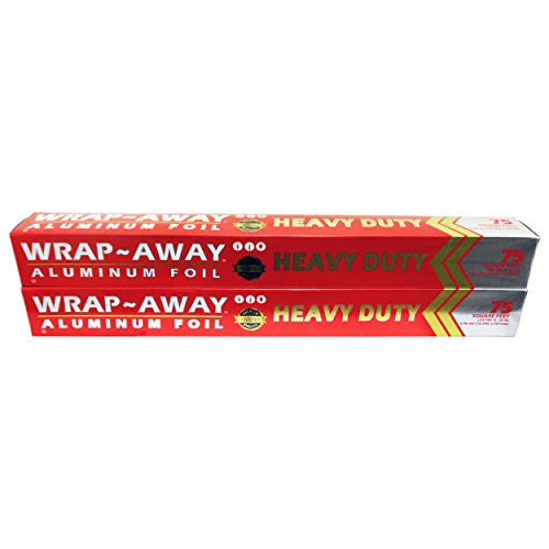 (Wrap Away™ Heavy Duty Aluminum Foil (Pack of 2) (75 Square Ft x 18 in))