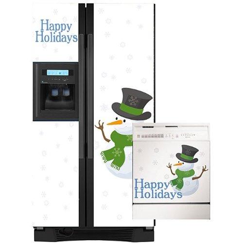 Snow Men Combo Appliance Art Decorative Magnetic Dishwasher