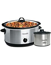 Crock-Pot 8 Qt Slow Cooker with Dipper, Stainless Steel