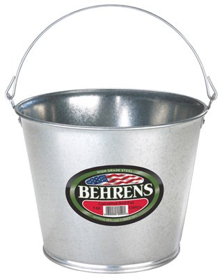Behrens 1205GS Galvanized Steel Pail, 5-Qt. - Quantity 12 by BEHRENS MANUFACTURING LLC