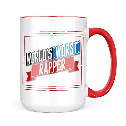 Neonblond Custom Coffee Mug Funny Worlds worst Rapper 15oz Personalized Name