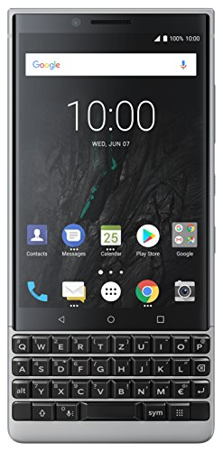 BlackBerry KEY2 128GB (Dual-SIM, BBF100-1, QWERTY Keypad) Factory Unlocked 4G Smartphone (Black Edition) - International Version