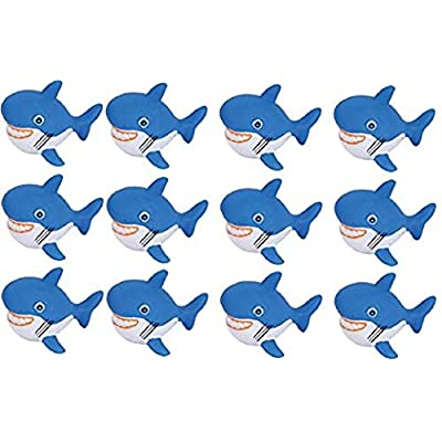 2.75 Inch Rubber Water Squirting Sharks One Dozen : Bathtub Toys : Baby