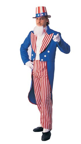 Rubie's Costume Deluxe Adult Uncle Sam Costume, Blue, Medium