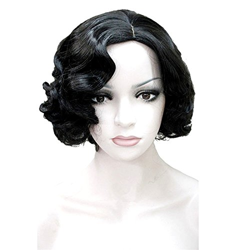 [Aimolee Women Short Wavy 1920s Flapper Wig Marilyn Monroe Halloween Women Costumes] (1920s Flapper Hairstyles)