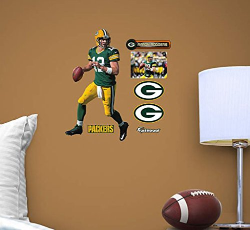 Fathead Vinyl (NFL Green Bay Packers Aaron Rodgers Teammate Player Fathead)