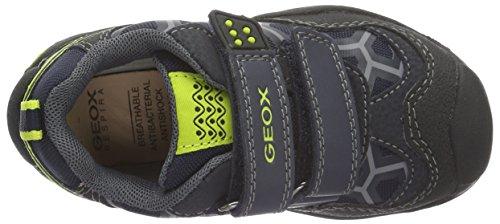 Geox J New Savage Boy B - Zapatillas para niños Azul (Navy/LIMEC0749)