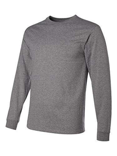 - Jerzees Men's Heavyweight Blend 50/50 Long Sleeve T-Shirt (Oxford, Small)