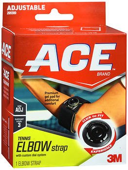 Ace Tennis Elbow Strap with Dials, Pack of 5 by ACE
