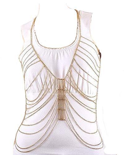 Fashion Jewelry ~ Body Jewelry Body Chains for Women (Goldtone Layer Body Chain (IBD1010-GLD)) from Variety Gift Shop Fashion Jewelry