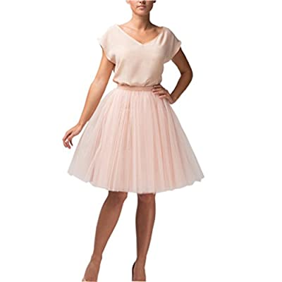 Lisong Knee Length Layered Tulle Tutu Party Skirt For Women
