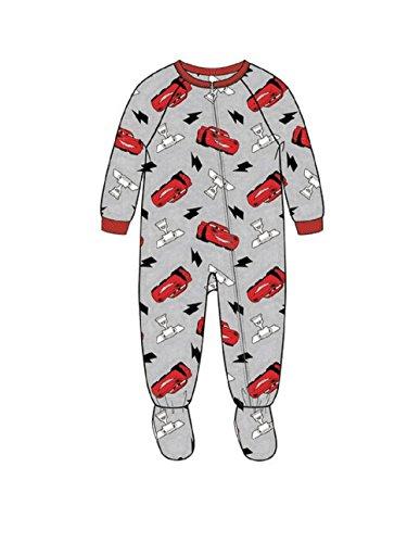 Disney Pixar Cars Lightning McQueen Gray Footie Toddler Boys Pajama, 2T