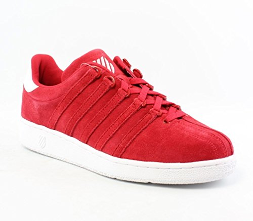 K-Swiss Men's Classic VN Suede  Shoe, Red/White, 11 M US