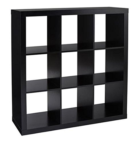 Better Homes and Gardens 9-Cube Organizer Storage Bookcase Bookshelf Solid Black