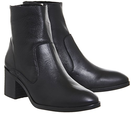 Heel Black Boots Albury Office Leather Block 0WRwnFwqE