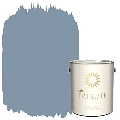 KILZ TRIBUTE Interior Eggshell Paint and Primer in One, 1 Gallon, Misty Morning (TB-51)