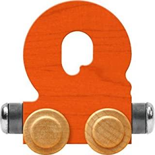 product image for Maple Landmark NameTrain Bright Letter Car Q - Made in USA (Orange)