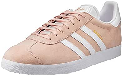 adidas, Gazelle Original Sneakers, Men's Shoes, Vapour Pink/White/Gold Metallic, 7 US Men / 8 US Women