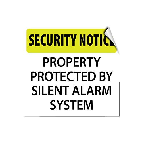 Amazon.com: Security Notice Property Protected by Silent ...