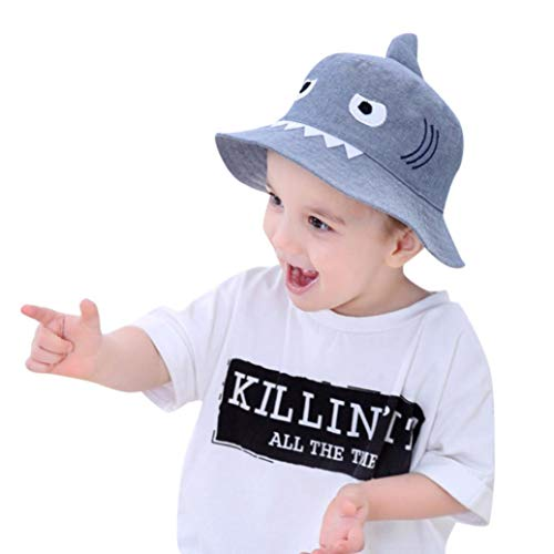 Tronet Baby Hat,Kids Boys Girls Sun Hat Children Cartoon Shark Print Autumn Cap (Light Blue, Age:1-3 Years)