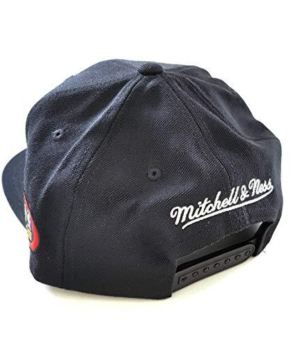 Negro de Taille béisbol Gorra Unique Negro Hombre Mitchell para amp; Ness 6Bqwg0