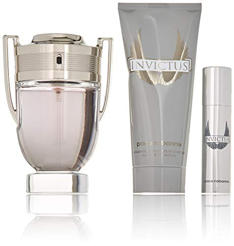 - Paco Rabanne Invictus 3 Piece Gift Set for Men, Packaging may Vary