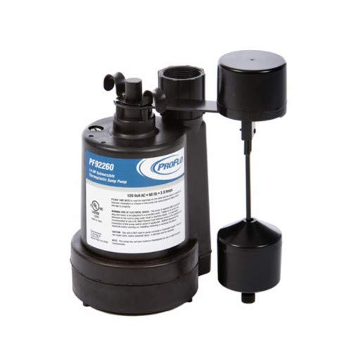 - PROFLO PF92260 1/4 HP Thermoplastic Submersible Sump Pump